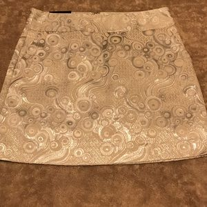 Banana Republic metallic and cream skirt. NWT